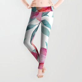 Pink Garden Flowers Leggings