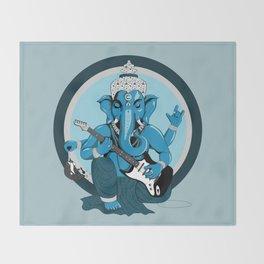 Ganesha rocks ! (v2) Throw Blanket