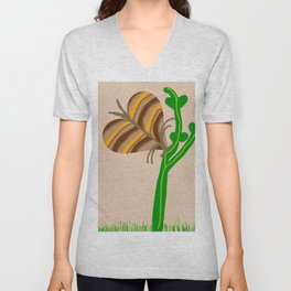Nature's Fly Love You Butter Bug Unisex V-Neck
