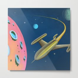 Fantastic Adventures in Outer Space Metal Print