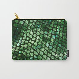 Shiny Emerald Scales Carry-All Pouch
