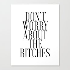 Jennifer Lawrence Bitches Inspirational Quote - Motivational Quote Typographic Print Motivational Canvas Print