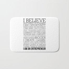 Entrepreneur Manifesto Bath Mat