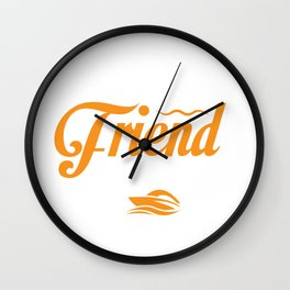 Funny Boat Pontoon Captain Owner Nautical design Wall Clock