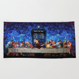 The Doctor Lost in the last Supper Beach Towel