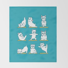 West Highland Terrier Yoga Throw Blanket