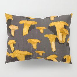 Chantterelles On A Dark Grey Background - Autumn Harvest - #Society6 #buyart Pillow Sham