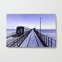 Train Southend on Sea Pier Essex England Metal Print
