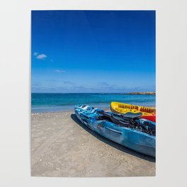 Seascape Boats Poster
