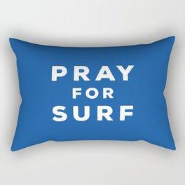 Pray For Surf Rectangular Pillow