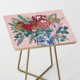 Australian Native Bouquet of Flowers after Matisse Side Table