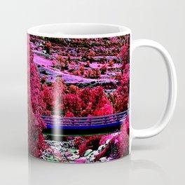 Alien landscape indigo red surrealist night in the mountain Coffee Mug