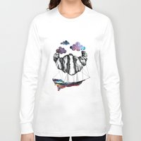 led zeppelin Long Sleeve T-shirts featuring Intergalactic Zeppelin by jsemKamm