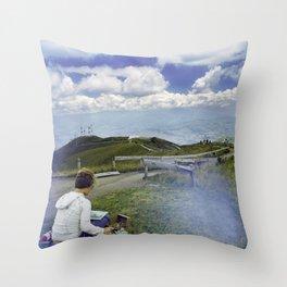 Quito Painter Throw Pillow