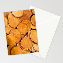Watercolor Coins, Lincoln Wheat Pennies, 1941 01 Stationery Cards