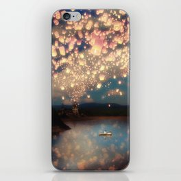 Love Wish Lanterns iPhone Skin
