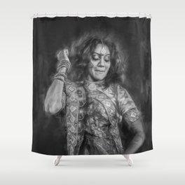The Joy of Dance (black & white) Shower Curtain