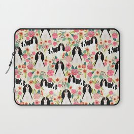 Cavalier King Charles Spaniel floral flowers dog breed pattern dogs Laptop Sleeve