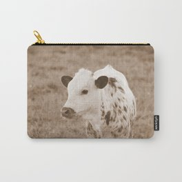 Spotted Long Horn Calf Photograph Carry-All Pouch