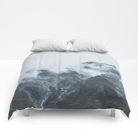 Stormy New Zealand Comforters