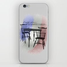 Empty Chairs at Empty Tables iPhone & iPod Skin