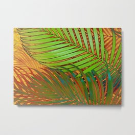 TROPICAL LEAVES POP-ART no5 Metal Print
