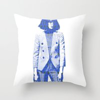 suit Throw Pillows featuring Suit by fashionistheonlycure