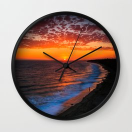 Sunset @ Crystal Cove Wall Clock