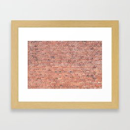 Plain Old Orange Red London Brick Wall Framed Art Print