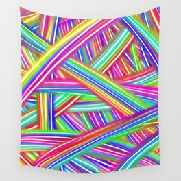 Abstract Neon Rainbow Wall Tapestry