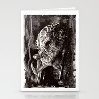 predator Stationery Cards featuring Predator by Stephanie Nuzzolilo