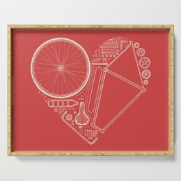 Love Bike (On Red) Serving Tray
