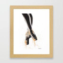 Peach Ballet Shoes Framed Art Print
