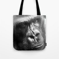 gorilla Tote Bags featuring Gorilla by SwanniePhotoArt