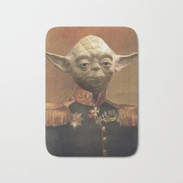 General Yoda Portrait Painting On Canvas | Fan Art Bath Mat