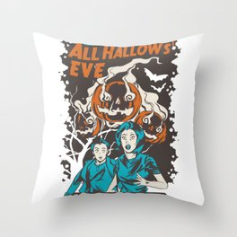 Halloween is coming spell Throw Pillow
