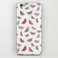 watermelon iPhone & iPod Skins featuring Watermelon by Abby Galloway