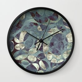 Background Metallic Ocean II Wall Clock