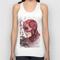 daredevil Tank Tops featuring Daredevil by rchaem