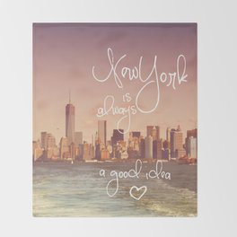 NEW YORK NEW YORK Throw Blanket