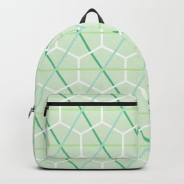 Mint Green Honeycomb Check Backpack