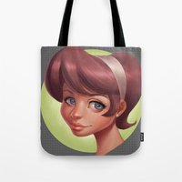 dot Tote Bags featuring Dot by Shelly Soneja