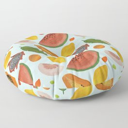 Papayas, watermelons and tropical flavours!  Floor Pillow
