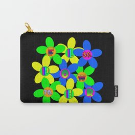 Flower Power 60s-70s Carry-All Pouch