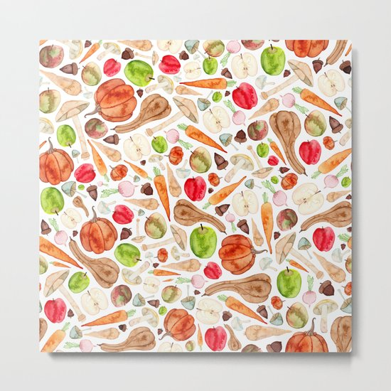 Fruit and Vegetables  Metal Print
