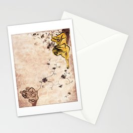 Children Drawing Flowers Painting Stationery Cards