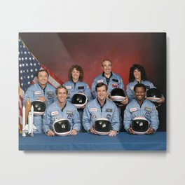 Space Shuttle Challenger Crew, November 1985 Metal Print