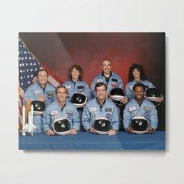 Space Shuttle Challenger Crew, November 1985 Metal Print