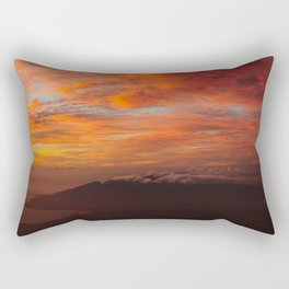 Haleakala's Colorful Sunset Rectangular Pillow