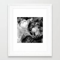 wolves Framed Art Prints featuring Wolves by Ricca Design Co.